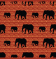 cute seamless elephants pattern with geometric vector image vector image