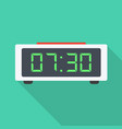 digital clock flat icon vector image vector image