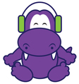 Dinosaur Listening Music vector image