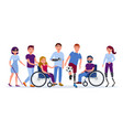 disabled people with disabilities and prosthesis vector image vector image