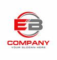 eb logo vector image vector image