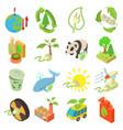 ecology icons set isometric style vector image vector image
