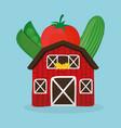 farm fresh vegetables health image vector image