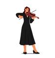 female musician playing violin on scene girl vector image