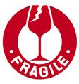 Fragile stamp - Fragile symbol vector image