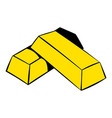 gold bars icon icon cartoon vector image