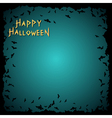 Halloween background with bats frame vector image