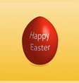 Happy easter red egg with text yellow gradient