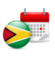 Icon of National Day in Guyana vector image vector image