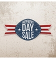 Independence Day Sale scratched Emblem vector image vector image