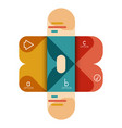 infographics option and step by step in rounded vector image vector image