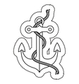 Isolated anchor with rope design vector image vector image