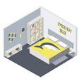 isometric bedroom flat 3d vector image