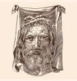 jesus christ savior vector image
