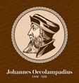 johannes oecolampadius was a german protestant vector image vector image