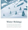 landscape with mountain peaks winter sport vector image