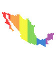 lgbt spectrum pixel mexico map vector image