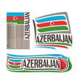 logo for azerbaijan vector image vector image