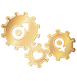 love gears vector image vector image