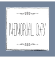 Memorial day card with hand lettering vector image vector image