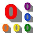 number 0 sign design template element set of red vector image