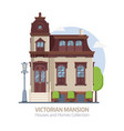 old victorian mansion building vector image