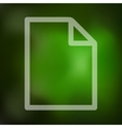 paper icon on blurred background vector image