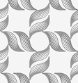 Perforated striped leafy shapes forming cross vector image vector image