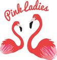 Pink Ladies vector image vector image