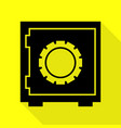 safe sign black icon with flat style vector image