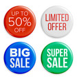 sale badges set discount special offer vector image