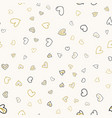 seamless pattern with colorful heart vector image vector image