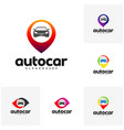 set of car point logo template designs auto car vector image vector image