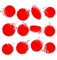 set of red broken shapes vector image vector image
