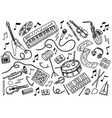 simple set of music related line icons vector image
