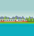 Speed train vector image vector image