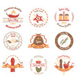 spices and herbs colored emblems vector image