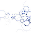 structure molecule and communication vector image vector image