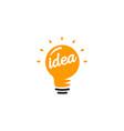 stylized sign of lightbulbs white vector image vector image