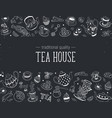 tea icons vector image