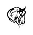 tribal head horse vector image vector image