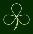 trilous clover stpatrick s day vector image vector image