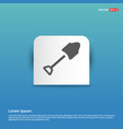 trowel icon - blue sticker button vector image