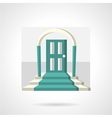 Entrance with arch flat icon vector image