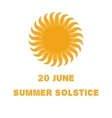 Emblem or poster of the sun vector image