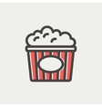 Popcorn thin line icon vector image