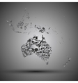Australia map in the form of skulls background vector image