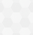 3D white striped hexagons forming tetrapods vector image vector image