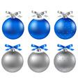 6 christmas balls vector image vector image