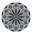 a grey and black color mandala or color vector image